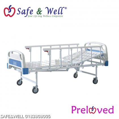 REFURBISHED HOPKIN MANUAL SINGLE-CRANK HOSPITAL BED