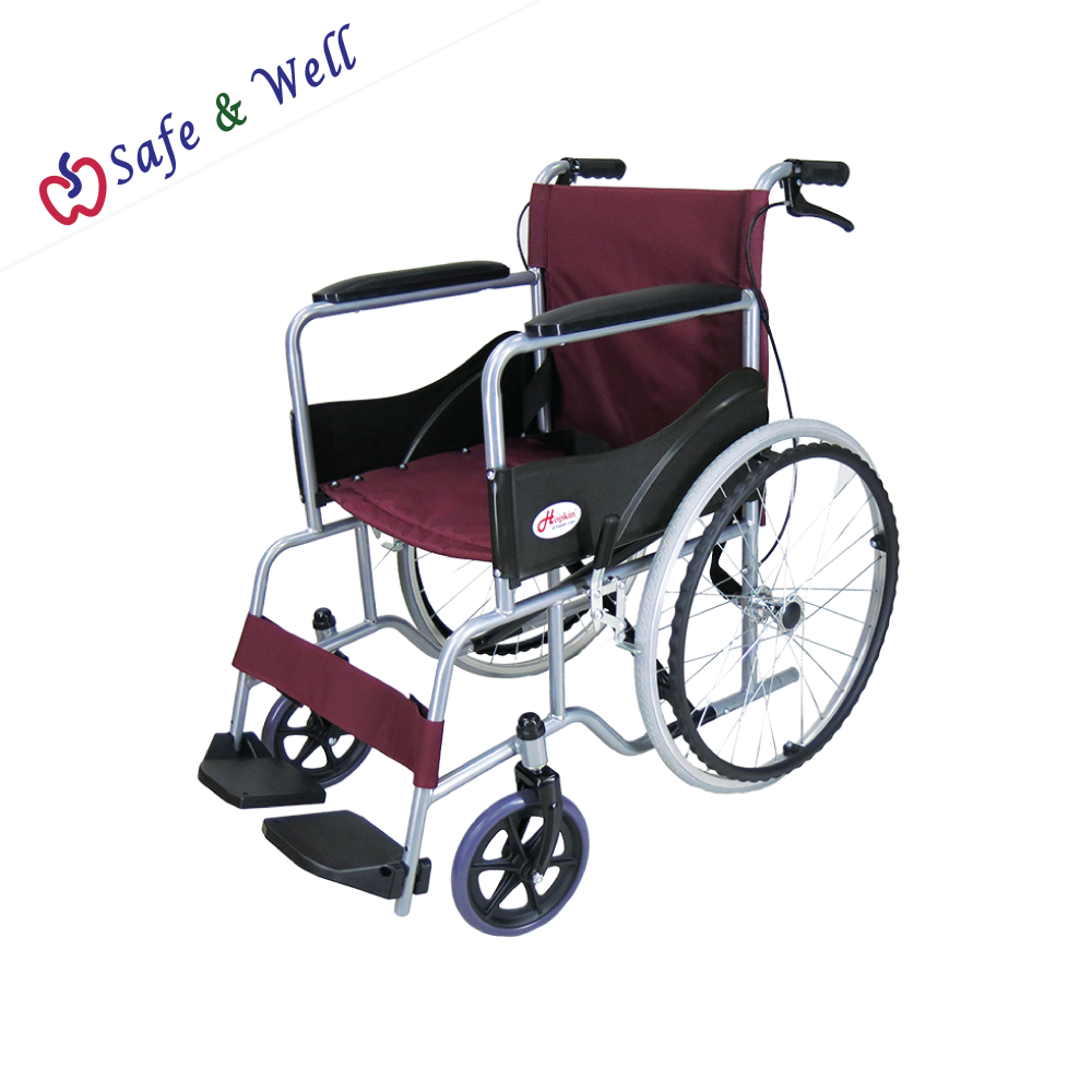 HOPKIN STANDARD STEEL WHEELCHAIR WITH BRAKES