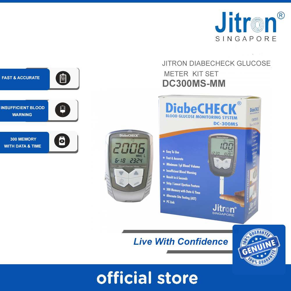 JITRON DIABECHECK GLUCOSE METER KIT SET - (STRIP UJIAN GLUCOSE METER KIT SET )